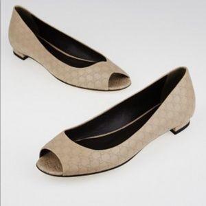 Gucci Peep Toe Flats